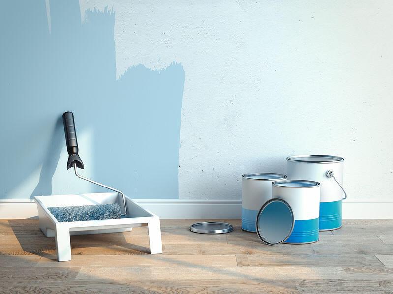 部屋の塗装