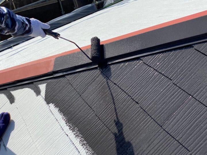 ⑦屋根塗装 上塗り