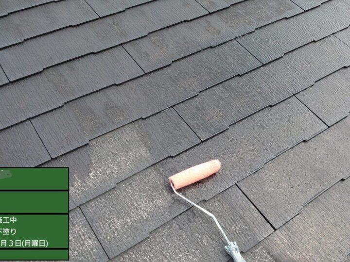 ④屋根塗装 下塗り