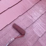 外壁の上塗りの様子