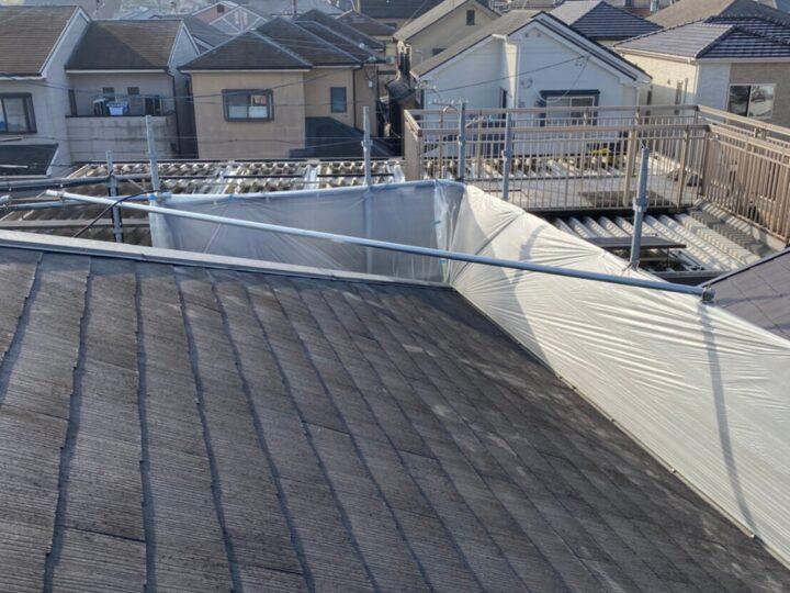 ②屋根塗装 養生
