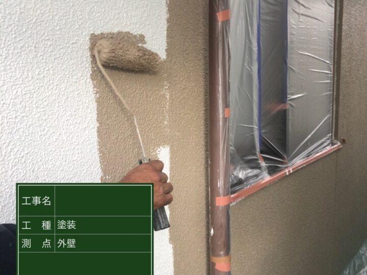 ⑤外壁 弾性ス-パ-セラタイトF中塗材 1回目