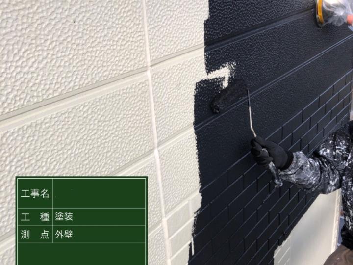 ⑤外壁 プレミアムシリコン上塗り1回目