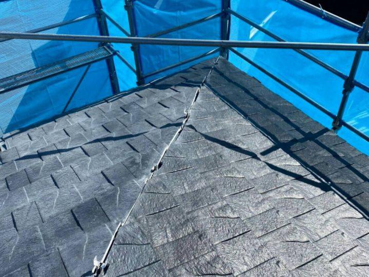 ⑥屋根材 敷設