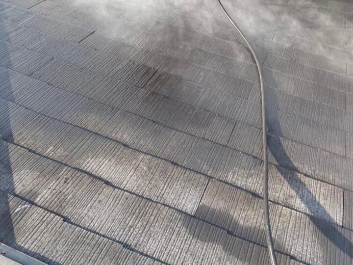 ③屋根塗装 高圧洗浄