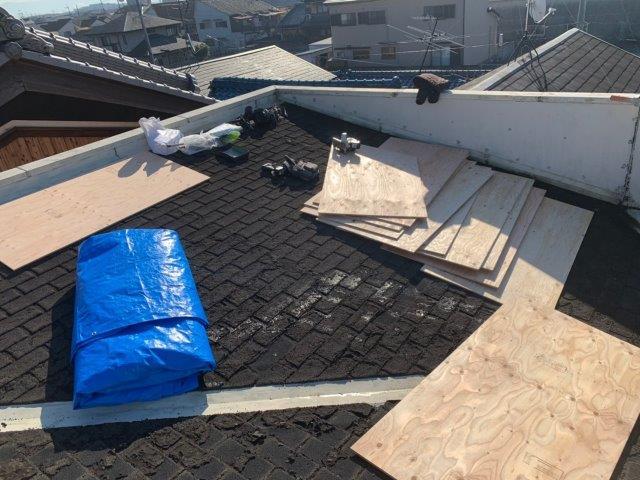①屋根カバー工法 施工前