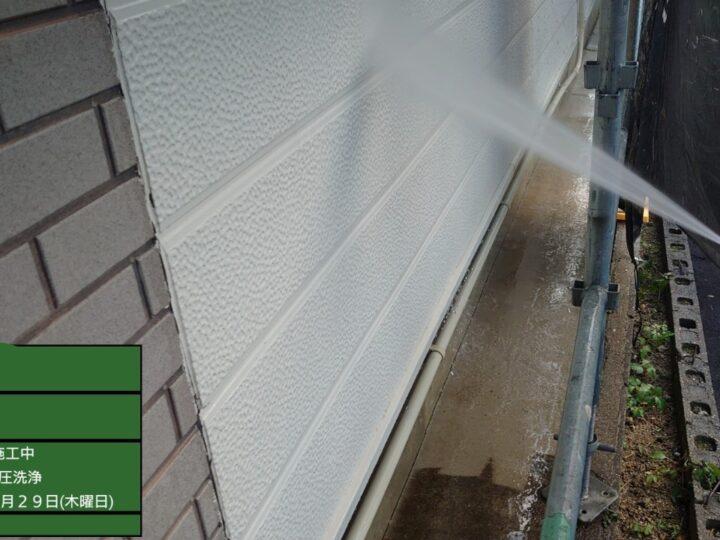 ②外壁 高圧洗浄