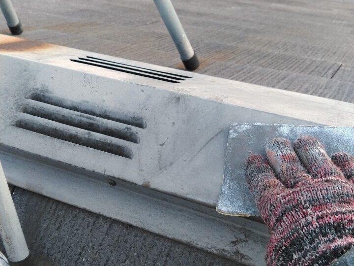 ②屋根 板金 下地処理