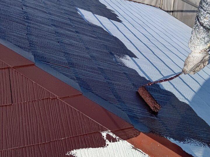 ⑤屋根 上塗り1回目