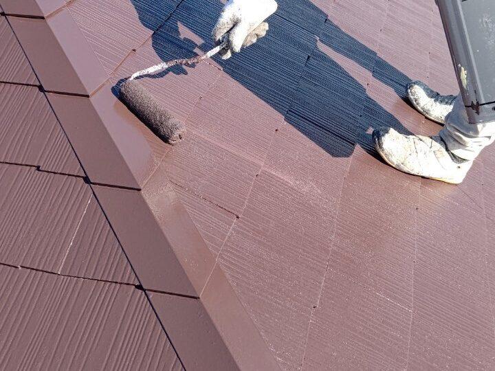 ⑥屋根 上塗り2回目 完了