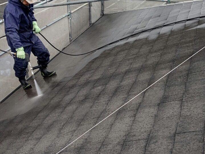 ①屋根 高圧洗浄