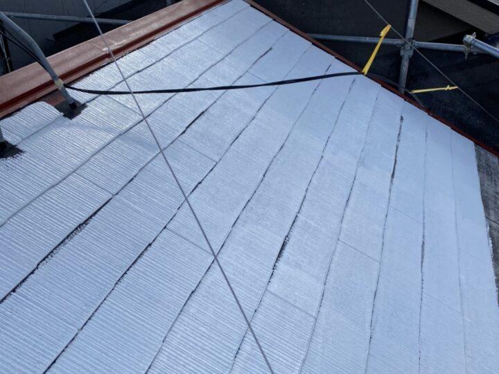 屋根 下塗り2回目 完了