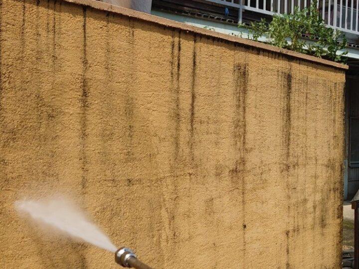 塀 高圧洗浄