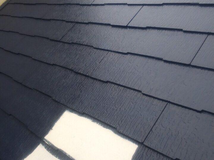 屋根塗装 上塗り1回目