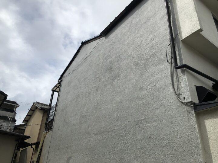 モルタル壁 貼替 施工前