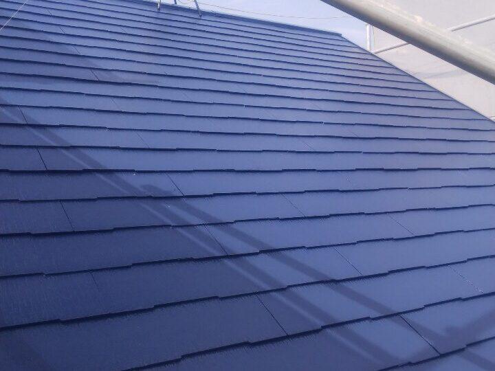 屋根塗装 上塗2回目 施工完了