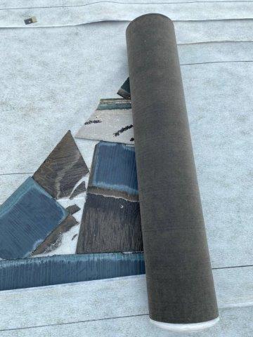 屋根カバー工法 防水シート敷設
