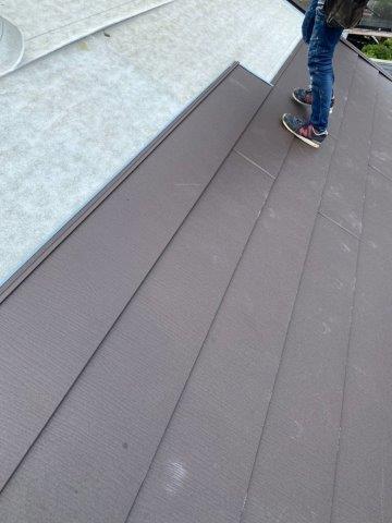 屋根カバー工法 ガルテクト敷設