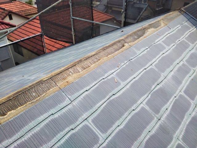 屋根カバー工法 棟板金解体