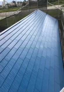 屋根 上塗り2回目 施工完了