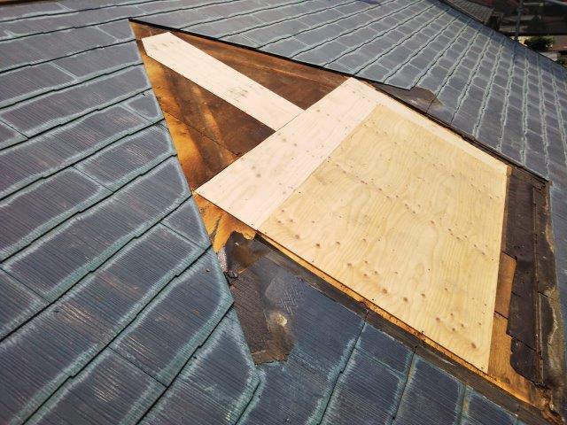 屋根カバー工法 ドーマー解体